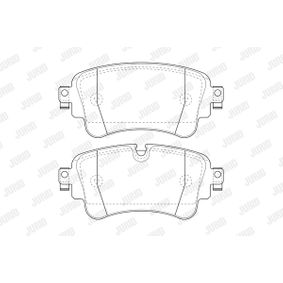Brake Pad Set, disc brake Height 1: 65mm, Thickness: 16,1mm with OEM Number 8W0 698 451N