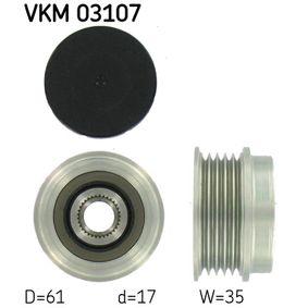 Freilauf Lichtmaschine VW PASSAT Variant (3B6) 1.9 TDI 130 PS ab 11.2000 SKF Generatorfreilauf (VKM 03107) für