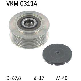 Freilauf Lichtmaschine für VW TRANSPORTER IV Bus (70XB, 70XC, 7DB, 7DW) 2.5 TDI 102 PS ab Baujahr 09.1995 SKF Generatorfreilauf (VKM 03114) für