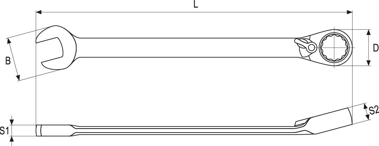Ratschen-Ringgabelschlüssel YATO YT-1664 Bewertung