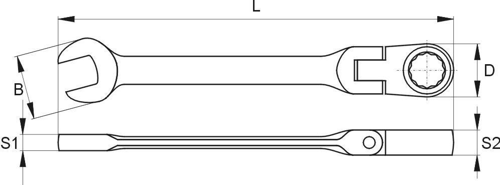 Ratschen-Ringgabelschlüssel YATO YT-1674 Bewertung