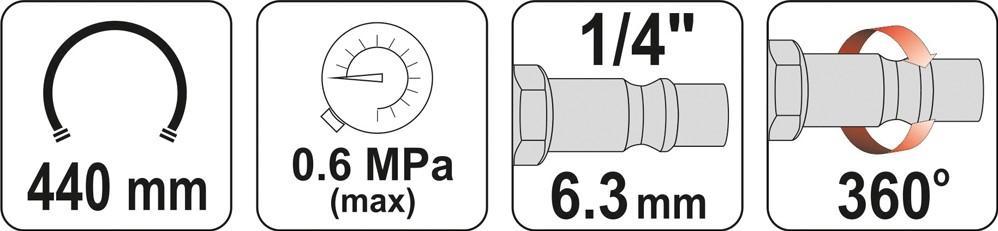 Compressed Air Tyre Gauge / -Filler YATO YT-23701 expert knowledge