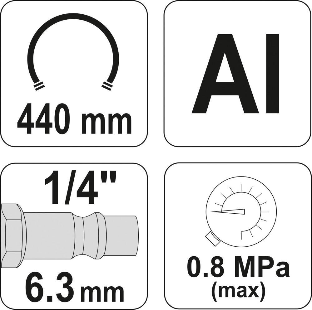 Compressed Air Tyre Gauge / -Filler YATO YT-2370 5906083923708