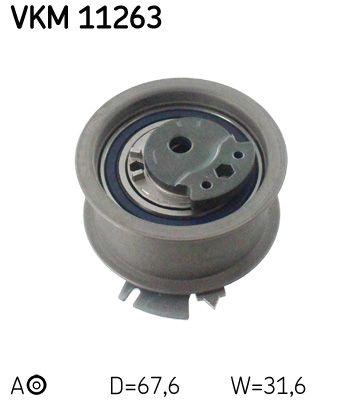 SKF  VKM 11263 Spannrolle, Zahnriemen Ø: 67,7mm