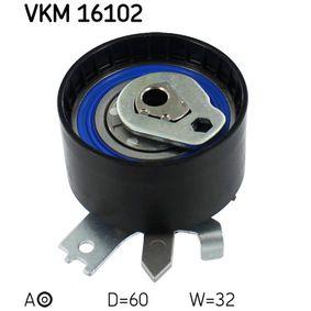 Tensioner Pulley, timing belt Ø: 60mm with OEM Number 8200 585 574