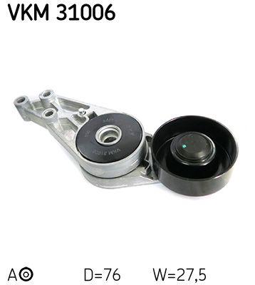 SKF  VKM 31006 Spannrolle, Keilrippenriemen Ø: 76mm, Breite: 28mm