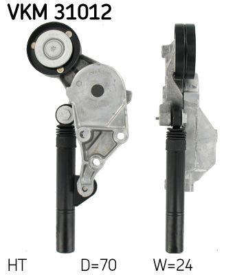 SKF  VKM 31012 Rolo tensor, correia trapezoidal estriada Ø: 70mm, Largura: 24mm