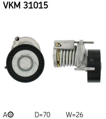 SKF  VKM 31015 Spannrolle, Keilrippenriemen Ø: 70mm, Breite: 26mm