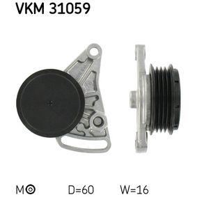 Spannrolle, Keilrippenriemen VW PASSAT Variant (3B6) 1.9 TDI 130 PS ab 11.2000 SKF Spannrolle, Keilrippenriemen (VKM 31059) für