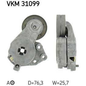 Touran 1T1, 1T2 1.4TSI Spannrolle, Keilrippenriemen SKF VKM 31099 (1.4 TSI Benzin 2006 CAVC)