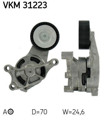 SKF  VKM 31223 Spannrolle, Keilrippenriemen Ø: 70mm, Breite: 24,6mm