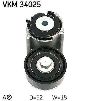 SKF  VKM 34025 Spannrolle, Keilrippenriemen Ø: 52,2mm, Breite: 18mm