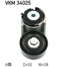 Spannrolle, Keilrippenriemen Ø: 52,2mm, Breite: 18mm mit OEM-Nummer 1131255
