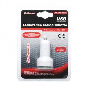 KFZ-Ladekabel für Handys Ausgangsstromstärke: 2.1A, Eingangsspannung: 12V, 24V 42018