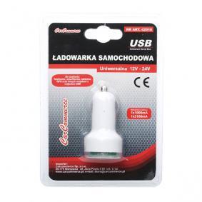 Car mobile phone charger Output current: 2.1A, Input Voltage: 12V, 24V 42018