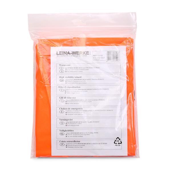 High-visibility vest REF 13118 LEINA-WERKE REF 13118 original quality