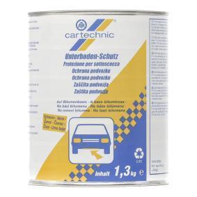 Recubrimiento anticorrosivo CARTECHNIC 40 27289 01323 7 para auto (Peso: 1,3kg, negro)