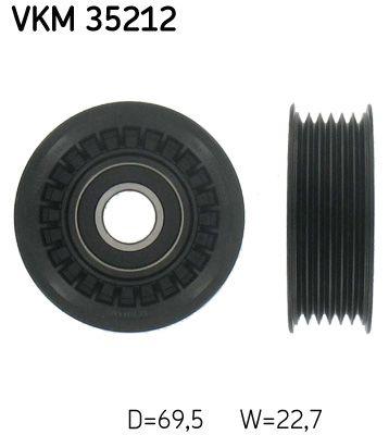 SKF  VKM 35212 Umlenkrolle Keilrippenriemen Ø: 69,5mm