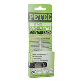 Klebeband PETEC 87122 für Auto (1mm, 12mm, -20°C +120°C°C, schwarz, 2m, doppelseitig)