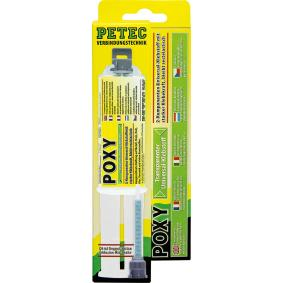 Adhesivo de uso general PETEC 98425 para auto (–40°C +120°C°C, incoloro, sin silicona, Contenido: 24ml)