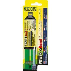 Adhesivo de uso general PETEC 98625 para auto (–40°C +120°C°C, blanco/amarillo, sin silicona, Contenido: 24ml)