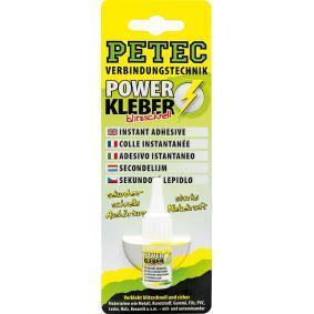 Adhesivo de uso general PETEC 93403 para auto (Tubo, Peso: 3g, sin silicona, incoloro)