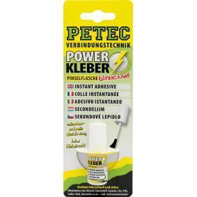 Adhesivo de uso general PETEC 93404 para auto (Tubo, Peso: 4g, sin silicona, incoloro)