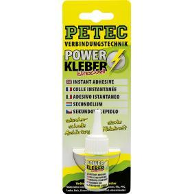 All purpose adhesives PETEC 93410 for car (Tube, Weight: 10g, Silicon-free, Colourless)