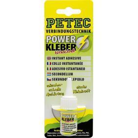 Adhesivo de uso general PETEC 93410 para auto (Tubo, Peso: 10g, sin silicona, incoloro)