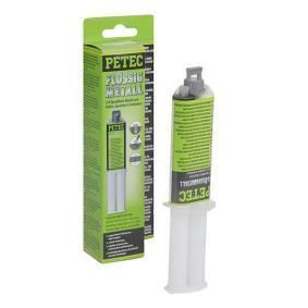 Metallkleber PETEC 97425 für Auto (-40°C +120°C°C, Kartusche, Inhalt: 24ml, grau, aushärtend, ölbeständig, schleifbar, silikonfrei, überlackierbar, Montagezeit: 4min.)