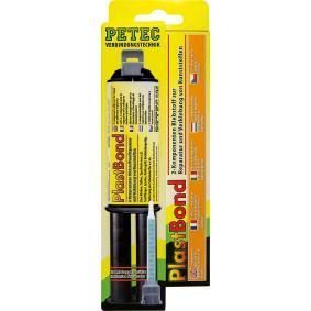 Kunststoffkleber PETEC 98325 für Auto (-40°C +140°C°C, schwarz, ölbeständig, schleifbar, überlackierbar, Kartusche, 24ml)