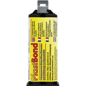 Kunststoffkleber PETEC 98350 für Auto (-40°C +140°C°C, schwarz, ölbeständig, schleifbar, überlackierbar, Kartusche, 50ml)