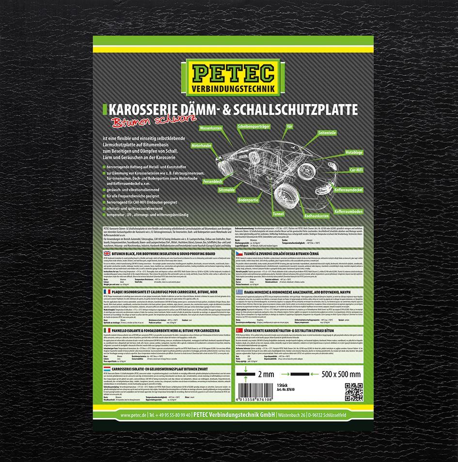 Sound deadening mat PETEC 87610 rating