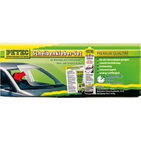 Sellador de parabrisas y vídrio PETEC 83333 para auto (negro, Embalaje Blister, Contenido: 310ml, 20min)