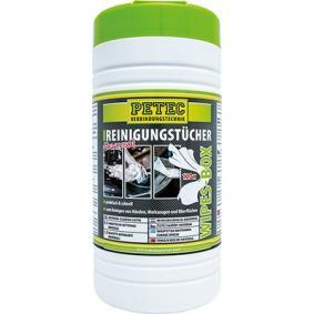 PETEC Hand cleaning wipes 82120