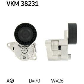 SKF  VKM 38231 Spannrolle, Keilrippenriemen Ø: 70mm, Breite: 26mm