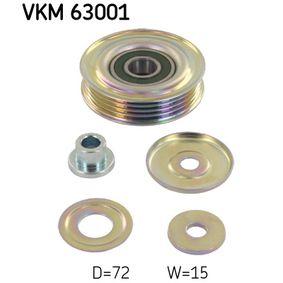 Deflection / Guide Pulley, v-ribbed belt Ø: 72mm, Ø: 72mm, Ø: 72mm with OEM Number 38942P01003