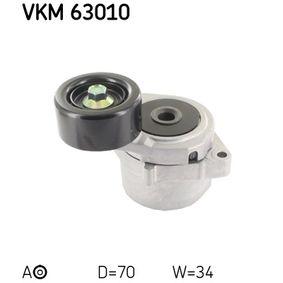 Tensioner Pulley, v-ribbed belt VKM 63010 CIVIC 8 Hatchback (FN, FK) 2.2 CTDi (FK3) MY 2018