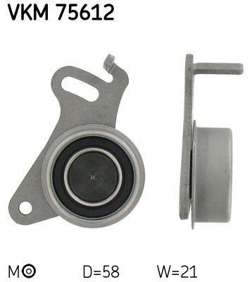 SKF  VKM 75612 Spannrolle, Zahnriemen Ø: 58mm