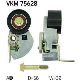 Tensioner Pulley, timing belt Ø: 58mm with OEM Number 24410-27000
