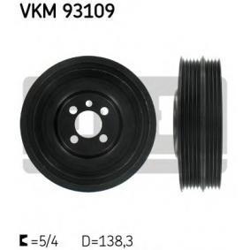 Kurbelwellenriemenscheibe VW PASSAT Variant (3B6) 1.9 TDI 130 PS ab 11.2000 SKF Riemenscheibe, Kurbelwelle (VKM 93109) für