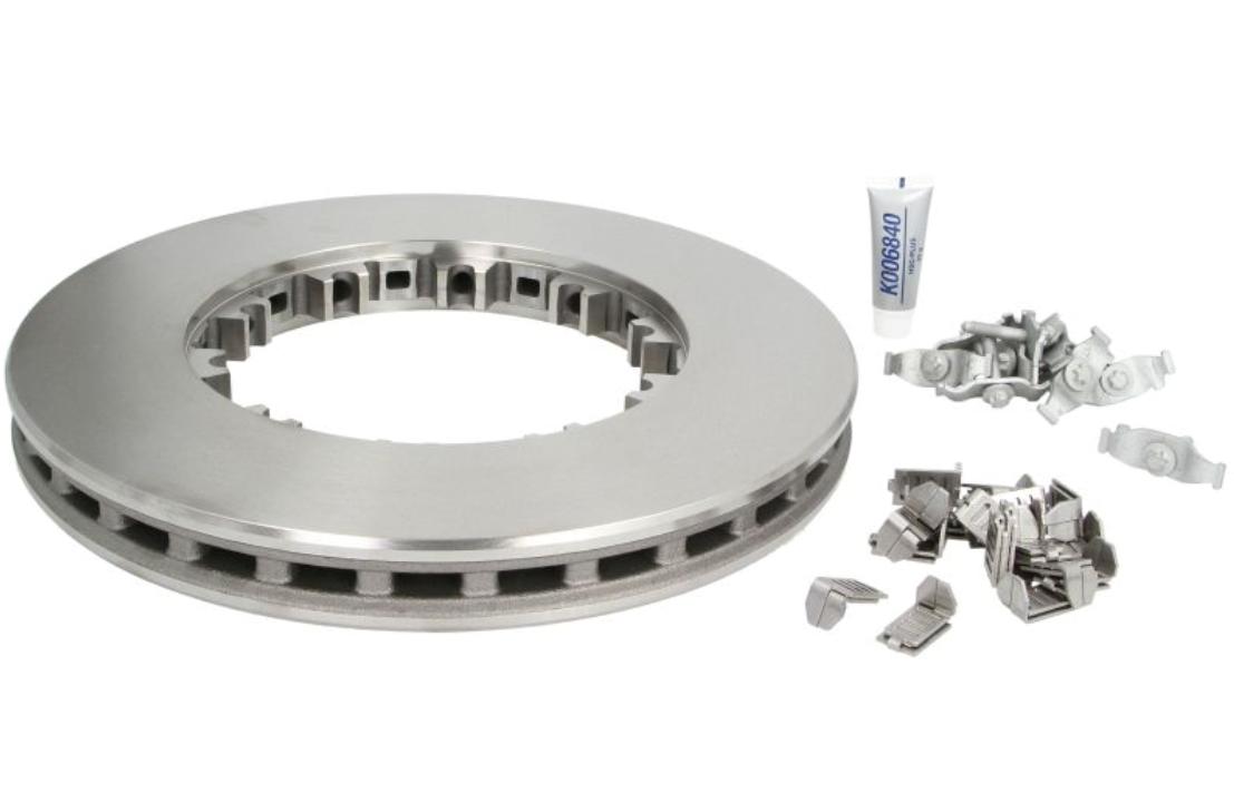 KNORR-BREMSE  K034249K50 Bremsscheibe Bremsscheibendicke: 45mm, Lochanzahl: 10, Ø: 432mm, Ø: 432mm