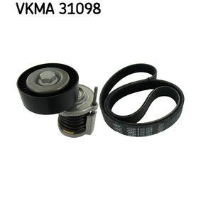 V-Ribbed Belt Set Length: 1070mm, Number of ribs: 6 with OEM Number 96 758 744 80
