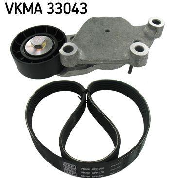 SKF  VKMA 33043 Juego de correas trapeciales poli V Número de nervaduras: 6