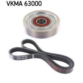 V-Ribbed Belt Set Length: 795mm, Number of ribs: 4 with OEM Number 575076