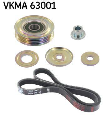 SKF  VKMA 63001 V-Ribbed Belt Set Length: 795mm, Number of ribs: 4