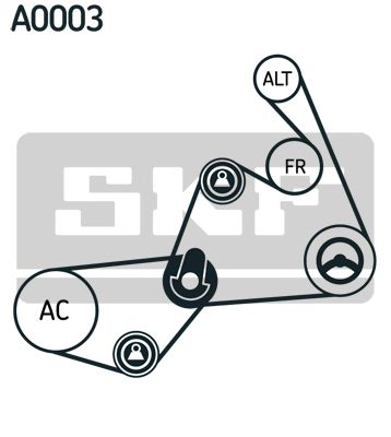 V-Ribbed Belt Set VKMAF 31020-2 SKF VKN350 original quality