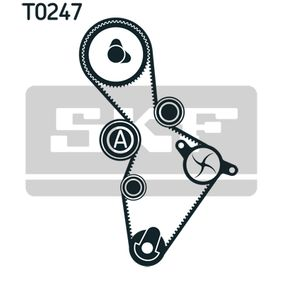 Water pump and timing belt kit with OEM Number YM218A663AA