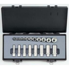 """Socket Set Square Drive Tang Size: 10 (3/8"""")mm (inch), Spanner size: 1/2"""", 1/4"""", 11/16"""", 13/16"""", 3/4"""", 3/8"""", 5/16"""", 5/8"""", 7/16"""", 7/8"""", 9/16"""""""