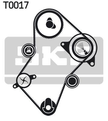 Water Pump + Timing Belt Kit SKF VKN1009 rating
